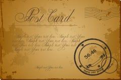 Vector vintage grunge blank postcard. Vintage blank antique postcard. Vector illustration art Royalty Free Stock Images