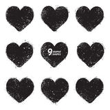 Vector vintage grunge hearts Royalty Free Stock Photography