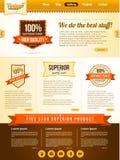 Vector vintage guarantee website template Stock Photo