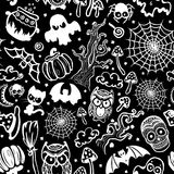 Vector vintage Halloween seamless Stock Images