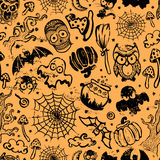 Vector vintage Halloween seamless Royalty Free Stock Photography