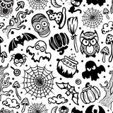 Vector vintage Halloween seamless Royalty Free Stock Images