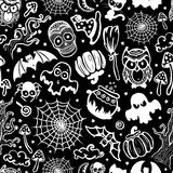 Vector vintage Halloween seamless Royalty Free Stock Image