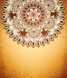 Vector vintage  hand-drawn abstract flowers pattern Royalty Free Stock Photos
