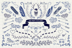 Vector Vintage Hand Drawn Doodle Design Elements Royalty Free Stock Images