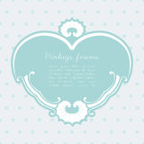 Vector vintage heart shape background. Royalty Free Stock Photography