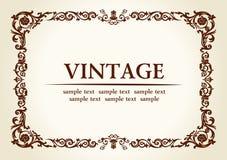 Vector vintage heraldic imperial frame Stock Photo