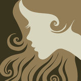 Vector vintage illustration of a girl Royalty Free Stock Photography