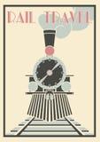 Vector vintage Illustration Of Steam Locomotive - Rail Travel. Layered Vectorvintage Illustration Of Steam Locomotive - Rail Travel Royalty Free Stock Image