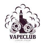 Vector vintage illustration vape logo Stock Images