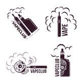 Vector vintage illustration vape logo Stock Photo