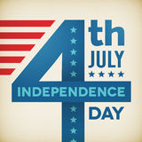 Vector vintage independence 4th July american day poster Royalty Free Stock Photos