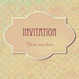 Vector vintage  invitation card Royalty Free Stock Image