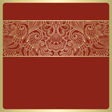 Vector vintage invitation card. Vector illustration with vintage pattern for invitation card Royalty Free Stock Images