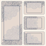 Vector vintage invitation card set. Royalty Free Stock Photos