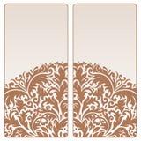 Vector vintage invitation card set. Template frame design for card Stock Photos