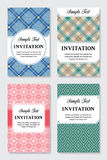 Vector vintage invitation cards templates Royalty Free Stock Images
