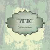 Vector vintage  invitation grunge card Royalty Free Stock Photography