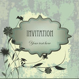 Vector vintage  invitation grunge card Stock Photo