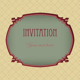 Vector vintage  invitation grunge card Stock Photo