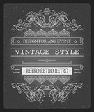 Vector vintage invitation template vector illustration for celebration and other with cool elegant elements.  Royalty Free Stock Photo