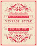 Vector vintage invitation template vector illustration for celebration and other with cool elegant elements.  Stock Image