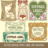 Vector vintage items Stock Photos