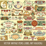 Vector vintage items Royalty Free Stock Photography