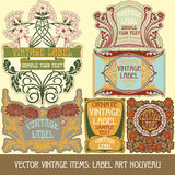 Vector vintage items Stock Images