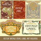 Vector vintage items Royalty Free Stock Image