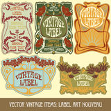 Vector vintage items Stock Photography
