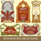Vector vintage items Stock Photo