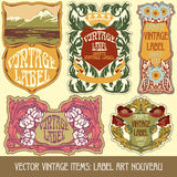 Vector vintage items Royalty Free Stock Photo