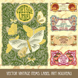 Vector vintage items Royalty Free Stock Photos