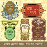 Vector vintage items Royalty Free Stock Images