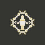 Vector vintage jug symbol. Vintage ornament with jug. Vector geometric symbol Royalty Free Stock Images