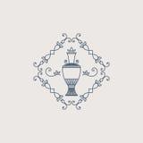 Vector vintage jug symbol. Vintage ornament with jug. Vector geometric symbol Royalty Free Stock Photos