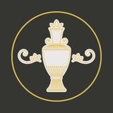 Vector vintage jug symbol. Vintage ornament with jug. Vector geometric symbol Stock Photo