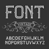 Vector vintage label font on a dark background. Stock Images