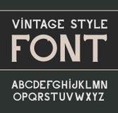 Vector vintage label font. Label style. Vector vintage label font.  Alcohol label style Stock Image