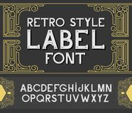 Vector vintage label font.  Retro style Stock Photography