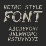 Vector vintage label font.  Retro style. Vector vintage label font.  Retro label style Stock Photo
