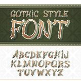 Vector vintage label font.  Retro style. Vector vintage label font.  Retro label style Stock Photos