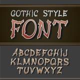 Vector vintage label font. Retro style. Vector vintage label font. Retro label style royalty free illustration