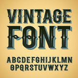 Vector vintage label font. Royalty Free Stock Photography