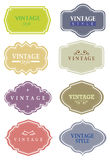 Vector vintage labels Royalty Free Stock Photos