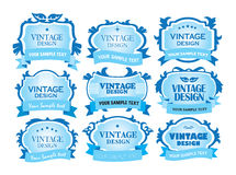 Vector vintage labels Stock Images