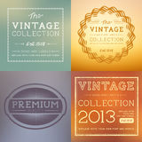 Vector Vintage Labels Royalty Free Stock Images