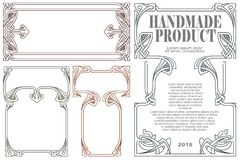 Vector vintage labels on different versions. Vector vintage labels on different versions for decoration and design Royalty Free Stock Photos
