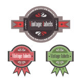 Vector vintage labels of high quality, the best qu Royalty Free Stock Photos